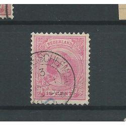 """Nederland 37 met """"OOSTWOLDE (SCHEEMDA) 1893 """" VFU/gebr CV 24 €"""