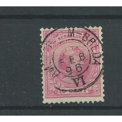 "Nederland 37 met ""OUDENBOSCH 1898""  VFU/gebr  CV 7 €"