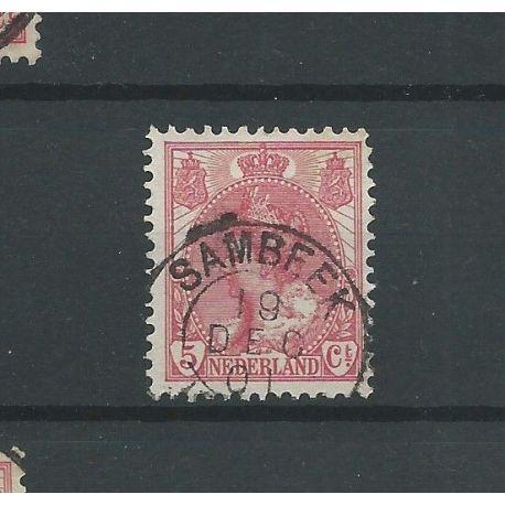 "Nederland 60 ""SAMBEEK 1901"" kleinrond VFU/gebr CV 13,5+ €"