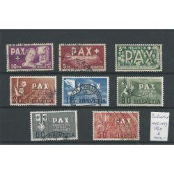 Zwitserland  447-459 PAX-serie  VFU/gebr  CV 1000 €