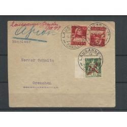 Zwitserland LP1 luchtpost 1919 met K8 op BRIEF VFU/gebr CV 300+ €