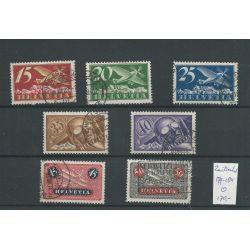 Zwitserland  179-184 Luftpost 1923  VFU/gebr  CV 170 €