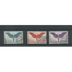 Zwitserland  189-191x  Luftpost 1924  VFU/gebr  CV 170 €
