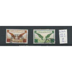 Zwitserland 233-234x Luftpost 1929 VFU/gebr CV 160 €