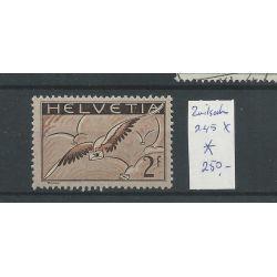 Zwitserland  245x  Luftpost 1930  MH/ongebr  CV 250 €