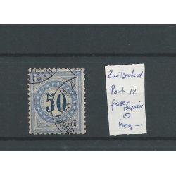 Zwitserland P12 Port Faser papier VFU/gebr CV 600 €
