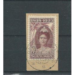 Suriname 108 op briefstukje VFU/gebr CV 50 €