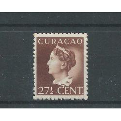 Curacao 148 Wilhelmina MH/ongebr CV 25 €