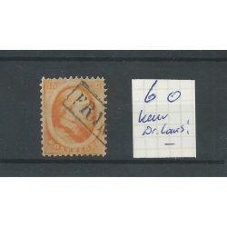 Nederland 6  Willem III 1864  CV 125 €  keurstempeltje Dr. Louis