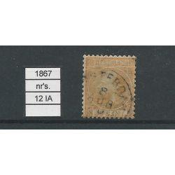 Nederland 12 I-A Willem III 1867 VFU/gebr CV 200 €