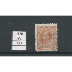 Nederland 23J Willem 1872 VFU/gebr CV 20 €