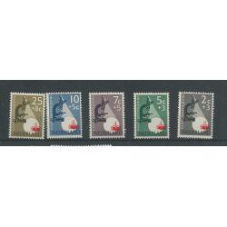 Nederland 661-665 Kankerbestrijding MNH/postfris CV 13,5 €