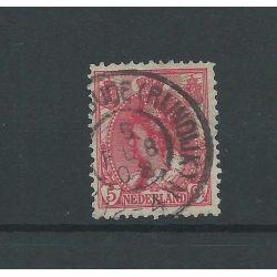 """Nederland 60 met """"HAZERSWOUDE (RIJNDIJK) 1908"""" grootrond VFU/gebr CV 15 €"""