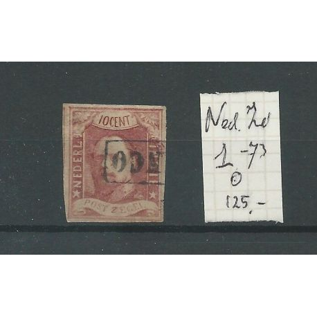 Ned.Indie 1 pos 73 Willem III 1864 VFU/gebr CV 125 €