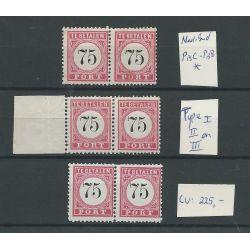 Ned Indie P13C-P13B combinaties type I, II en III MH/ongebrCV 225 €