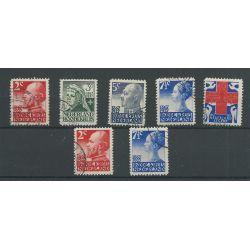 Nederland 203-207A en 203B, 207B Rode Kruis VFU/gebr CV 38,50 €