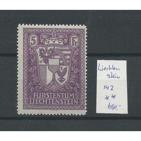Liechtenstein 142 Landeswappen MNH/postfris CV 750 €