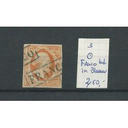 """Nederland 3 """"FRANCO-kastje in BLAAUW"""" VFU/gebr CV 450 €"""