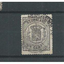 """Nederland 14 """"LANGE SLAG-zegel"""" VFU/gebr CV 100 €"""