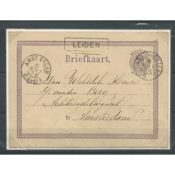 Nederland Briefkaart Leiden-Amsterdam CV 80++ €