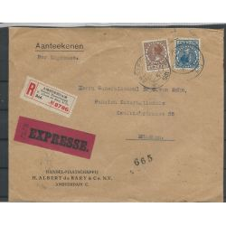 Nederland 156, 196 op Aangetekende EXPRESSE brief CV 500+ € Attest VLeeming