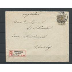 Nederland 189 ENKELFRANKERING 1934 op R-brief CV 30+ € Kurzbefund VLeeming