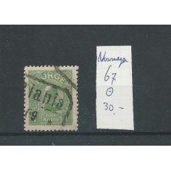 Noorwegen 67 Haakon VIII 1 Kr VFU/gebr CV 30 €