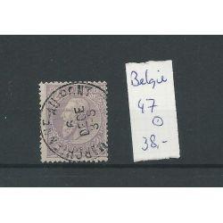 Belgie 47 Koning Leopold II VFU/gebr CV 38 €