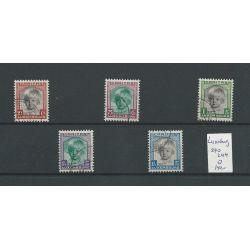 Luxemburg 240-244 Kinderhilfe 1931 VFU/gebr CV 140 €