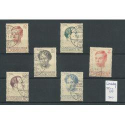 Luxemburg 333-338 Charitas 1939 VFU/gebr CV 200 €