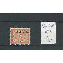 Ned. Indie 67a JAVA hoogstaand MH/ongebr CV 35 €