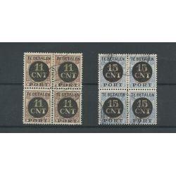 Nederland PV1-2 Blokken van 4 VFU/gebr CV 260 €
