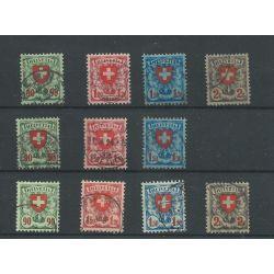 Zwitserland 194x-197x, 197z-197z Wappenschild VFU/gebr CV 78 €