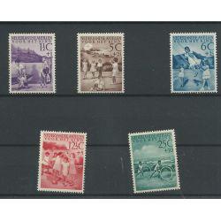 Curacao/Antillen 234-238 KIND 1951 MNH/postfris CV 60 €