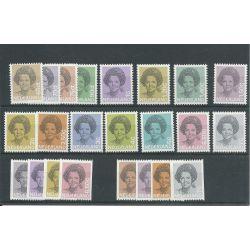 Nederland 1237-1252, 1238A-1251A Juliana MNH/postfris CV 66 €
