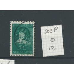 Nederland 303P VFU/gebr CV 10 €